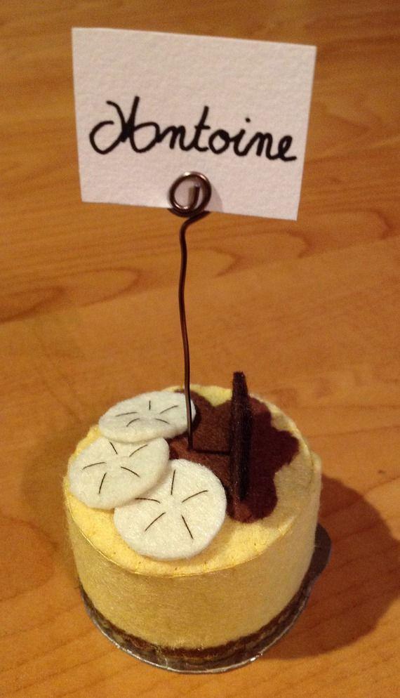 Marque-place gâteau feutrine