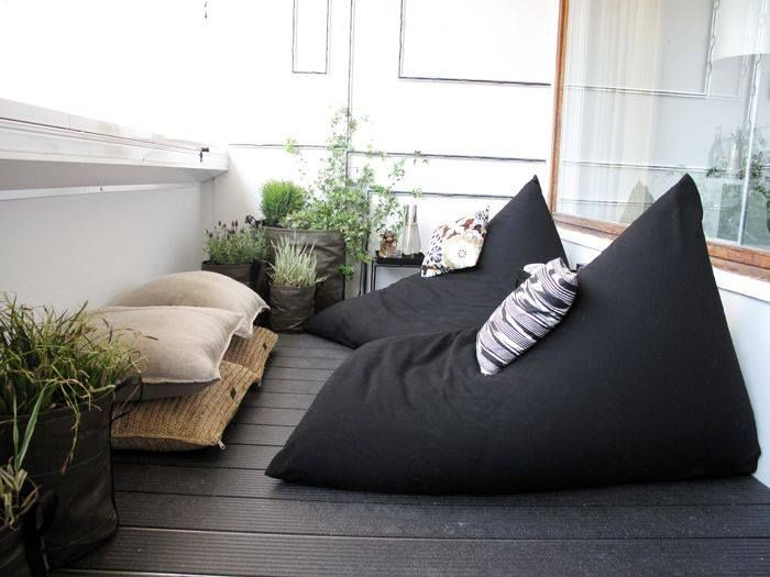 Comfortable bean bags - perfect for a lazy relaxing Sunday afternoon in the sun