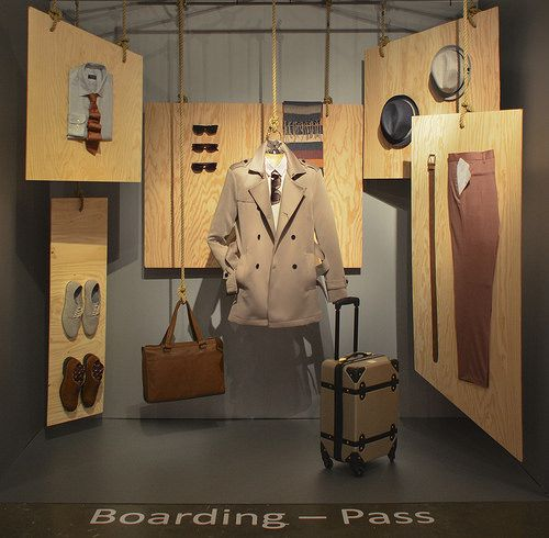 "SENECA FASHION, Toronto,Canada,""Boarding Pass', pinned by Ton van der Veer"