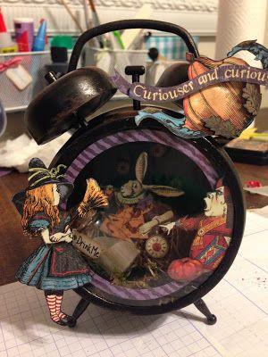 Altered Clock using Alice in Wonderland Paper