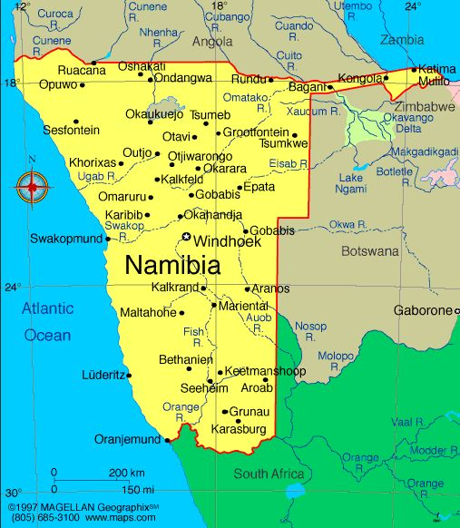Namibia Atlas: Maps and Online Resources | Infoplease.com
