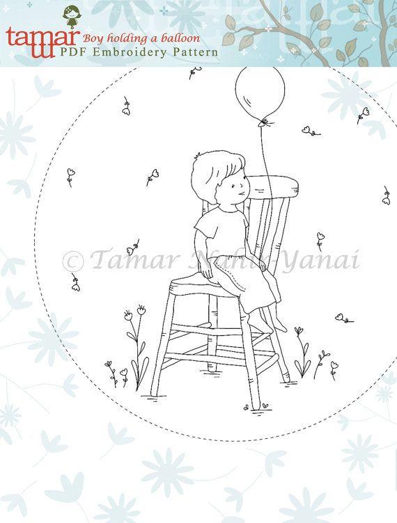 Embroidery Pattern Instant Download Needlecraft por TamarNahirYanai