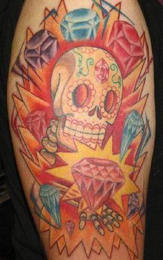 ... diamonds-tattoo-by-dave-stalter/ sugar skull diamond skin diamond