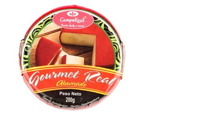 Queso Gourmet Real Ahumado. Queso semimadurado, semiduro, semigraso.