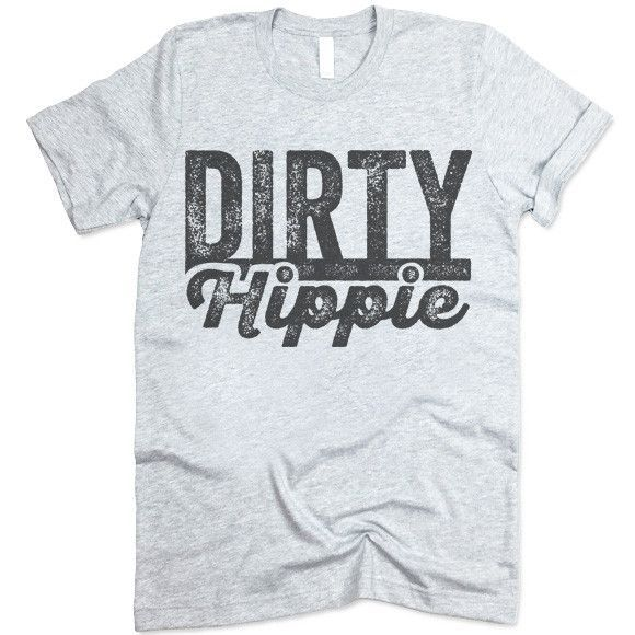 The listing is for one short-sleeve UNISEX crewneck t-shirt with 'Dirty Hippie' design. Please refer to the size chart below (laying flat measurements in inches) if you want to measure it against one