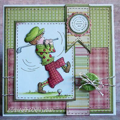 A Scrapjourney- Sassy Cheryl digi: Copic Cards, Cards Ideas, Cheryl Cards, Men Cards, Male Cards, Masculine Cards, Birthday Cards, Cards Sports Golf, Cards Men