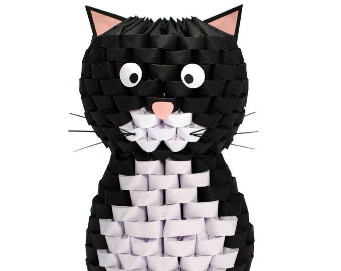 Gato de Origami 3D
