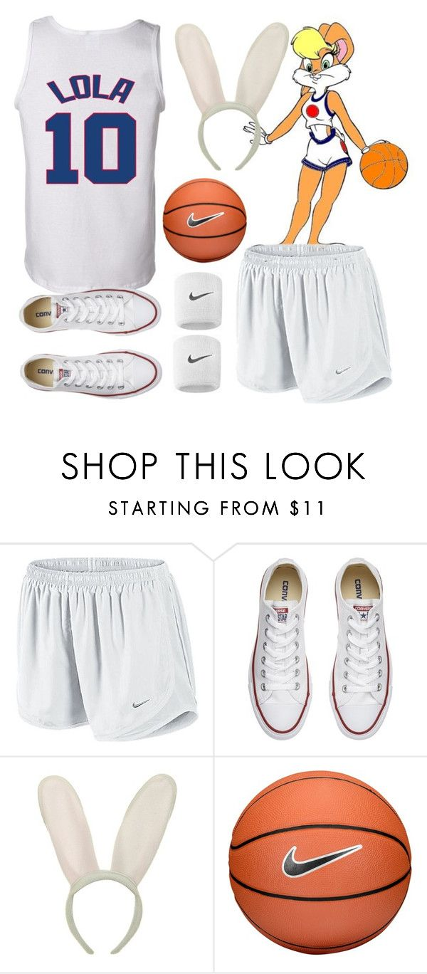 """""""Lola Bunny Halloween Costume"""" by kirrky ❤ liked on Polyvore featuring Converse, NIKE, Halloween, lolabunny and spacejam"""