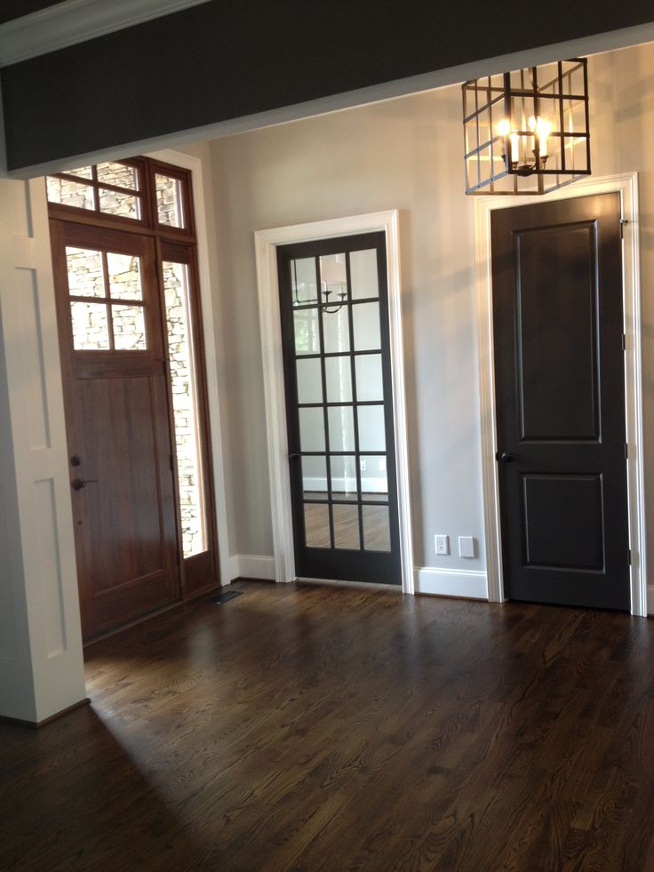 Urbane Bronze Doors By Sherwin Williams I Love The Dark Doors With White  Trim.... | For The Home | Pinterest | Dark Doors, White Trim And Doors