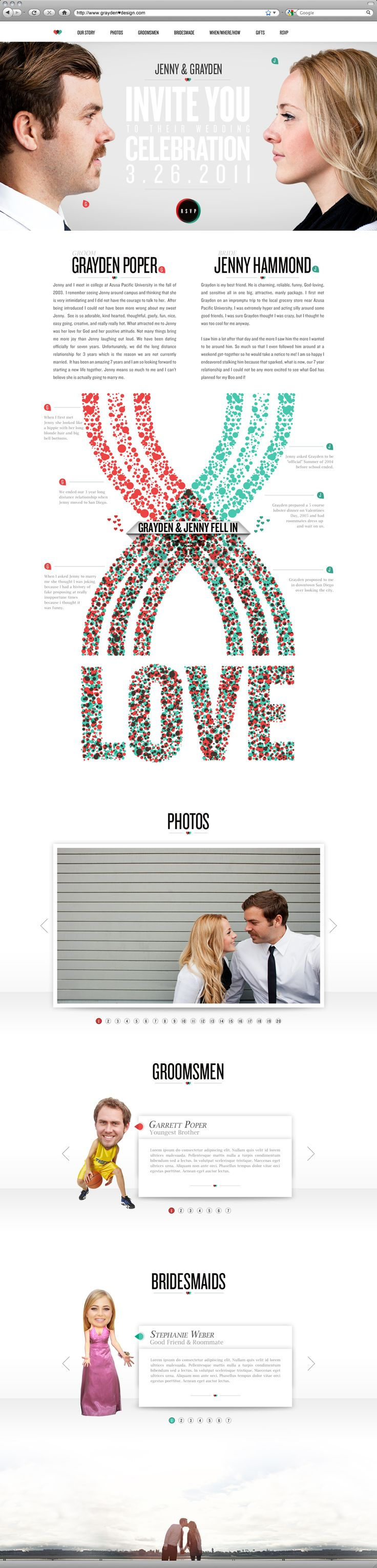 This is a wedding website and it's reaaaaally cool. webdesign