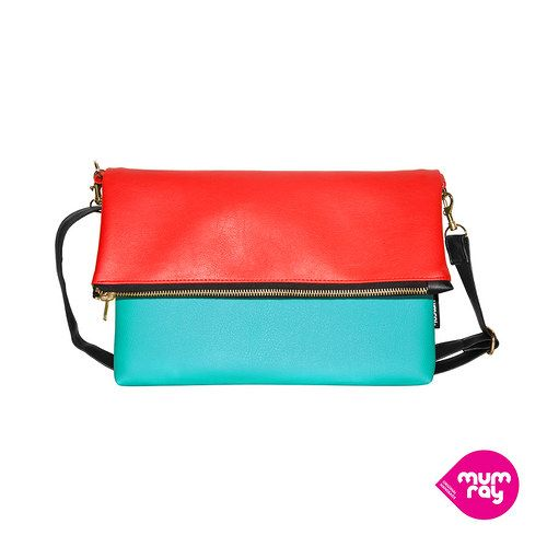 Fold bag Red and Azure