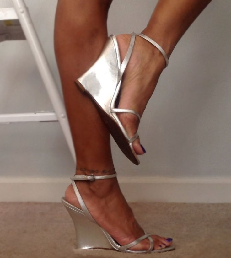 You can also use these later - Vintage Aldo Metallic Silver Wedge Heel Sandals by VintageFlyGal