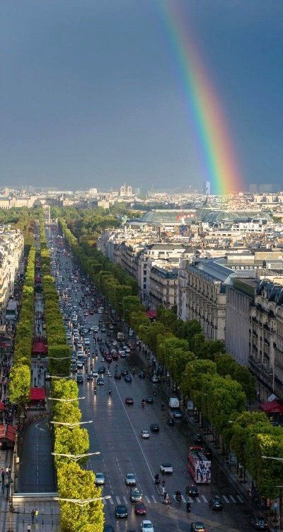 Champs Elysees after rain.. Paris, France | By Tim Trueman