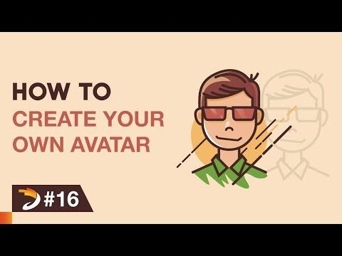 How to create an avatar like a cartoon character | Adobe Illustrator Tutorial - YouTube