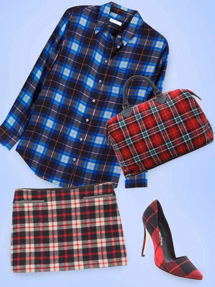 La tartan mania (Mango bag 45€ -  Alice+Olivia, shoes 261€, Shopbop )