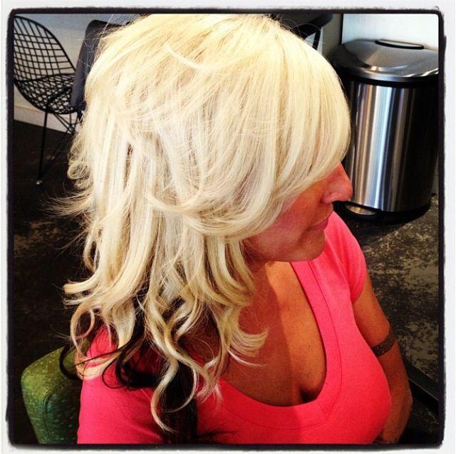 Platinum Blonde With Dark Brown Underneath Hair By Deona
