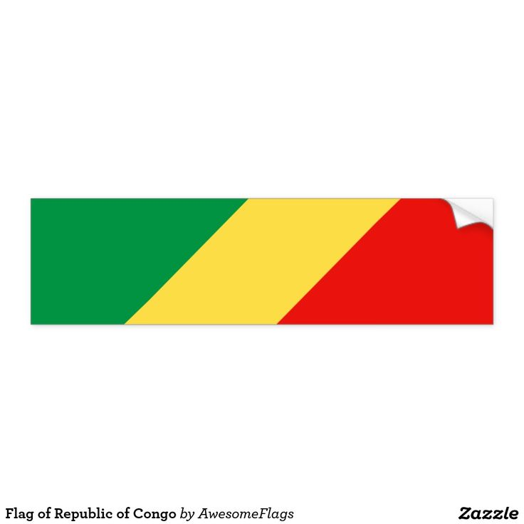Flag of republic of congo bumper sticker