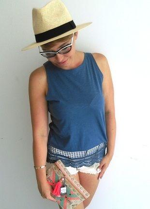 Kup mój przedmiot na #vintedpl http://www.vinted.pl/damska-odziez/bluzki-bez-rekawow/14460802-niebieska-bluzka-z-koronka-rozm-3840-primark