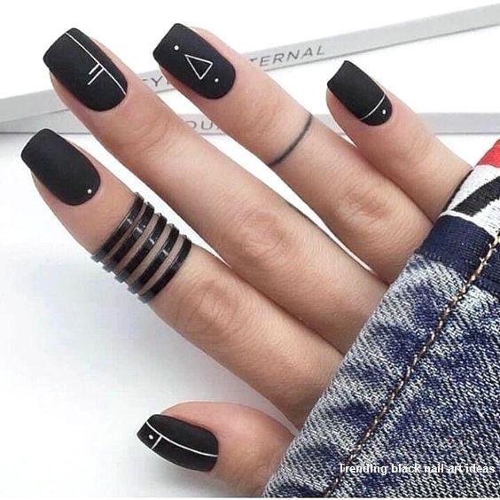 20 Simple Black Nail Art Design Ideas #nailartideas #nail – Nails