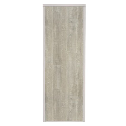 Porte de placard coulissante spaceo l67xh250 cm bois for Porte 70 cm leroy merlin