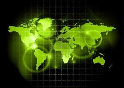 グリーン マップの世界 ストックフォト