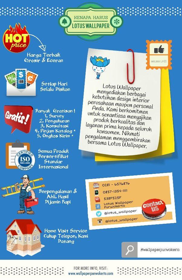 Banyak Alasan Kenapa Anda Harus Ke #lotuswallpaper #purwokerto. Simak Infografis Berikut :   #wallpaperpurwokerto #wallcoverings #designinteriors
