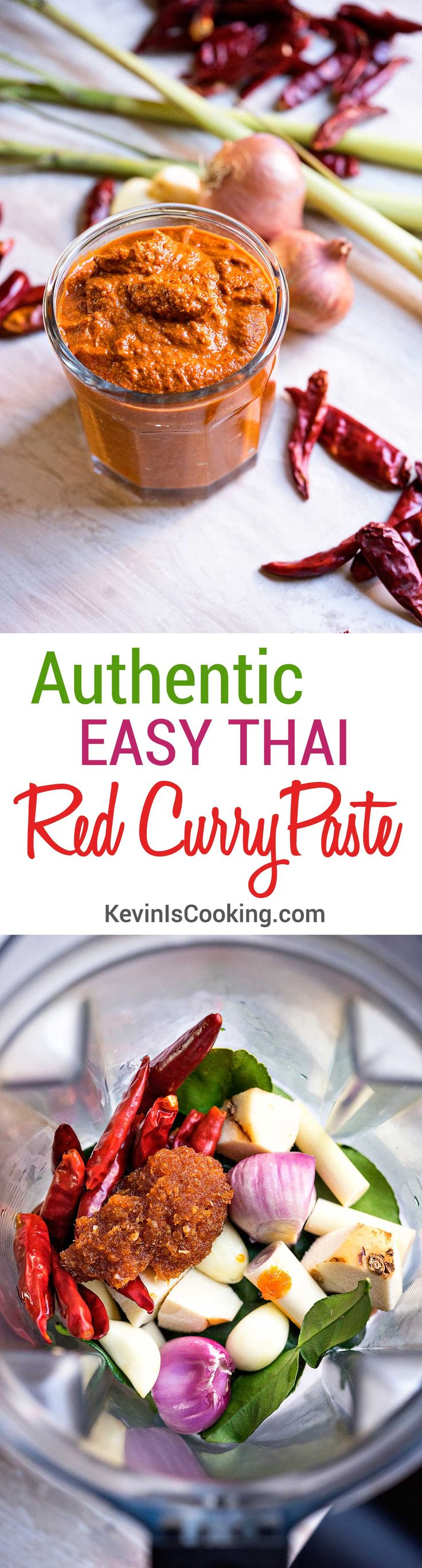 Looking for authentic Thai? This Easy Thai Red Curry Paste with only 7 ingredients delivers 1 massive amount of POW. www.keviniscooking.com