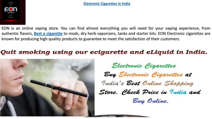 EON  #bestelectronicCigarette comes in a stylish and unique pack, gives you pleasure of smoking with out smoke and ash.