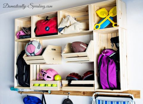 Garage Sports Organization With Crates Plus A Giveaway
