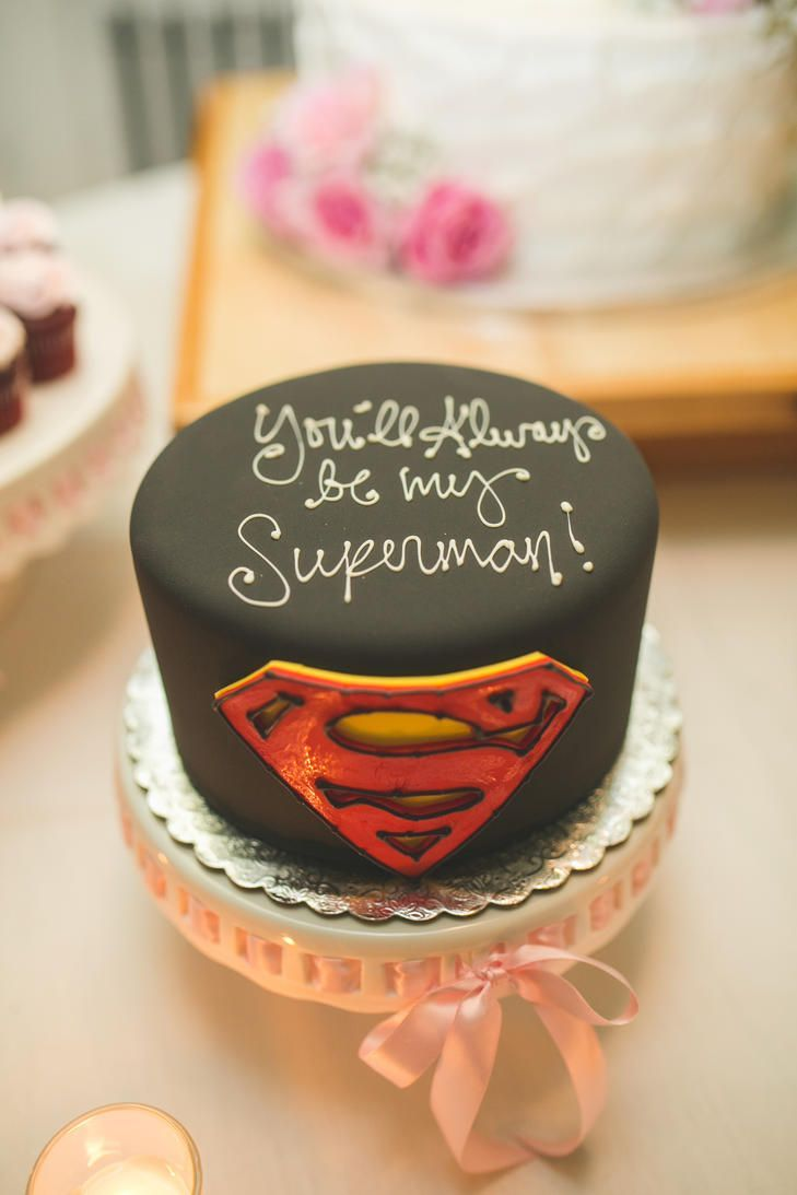 Superman Groom S Cake With Images Cake For Husband Birthday