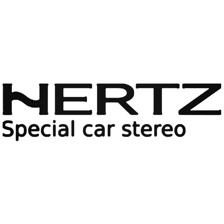Hertz Car Audio Decal Sticker  BallzBeatz . com