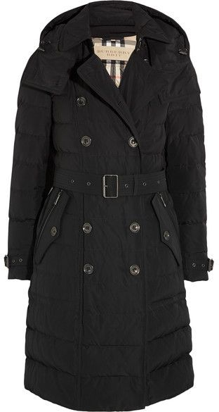 Burberry - Quilted Shell Down Coat - Black, Iconic British Luxury Brand Est. 1856, Clothes, Shoes, Bags, Coats, Trench Coat, Accessories, Kleider, Schuhe, Taschen, Mäntel, Mantel, Accessoires und vieles mehr.