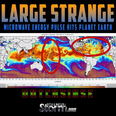 Stillness in the Storm : Large Strange Microwave Energy Pulse Hits Planet Earth -- Destroys storm near NZ | Dutchsinse