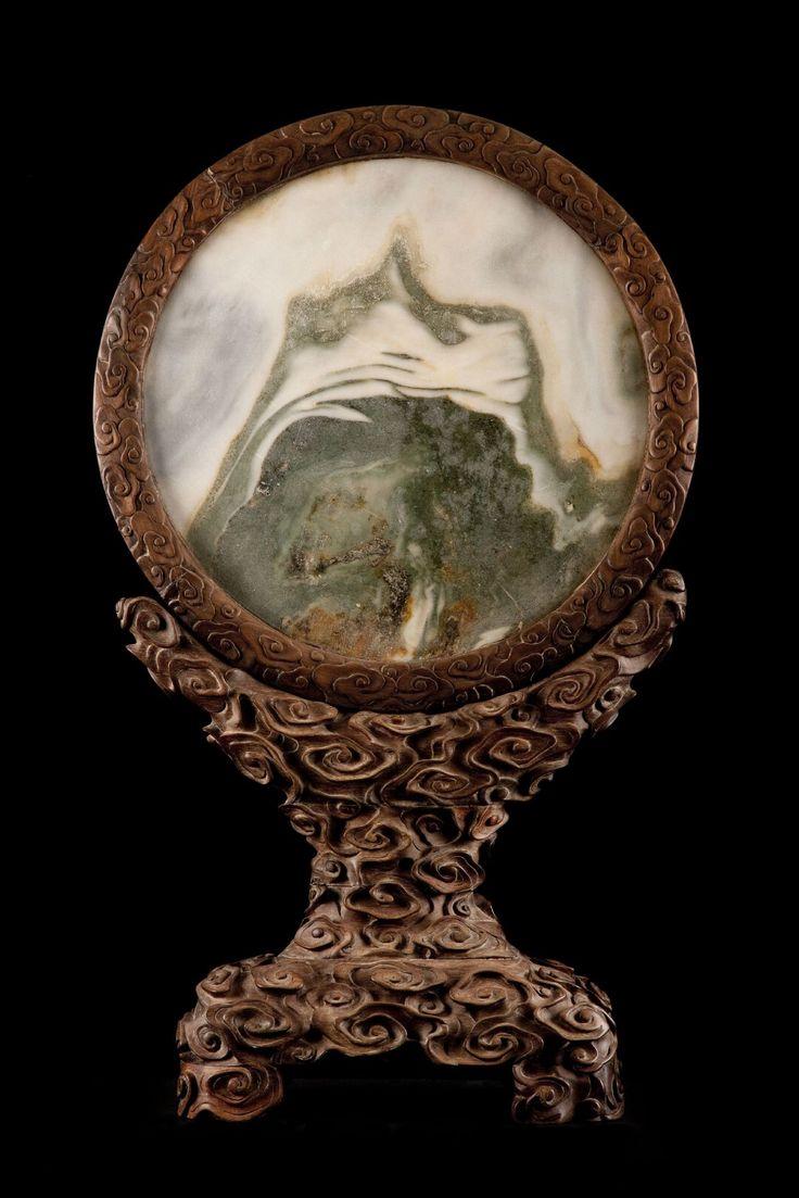Dream Stone, China, Chin Dynasty, c. 1800. Marble