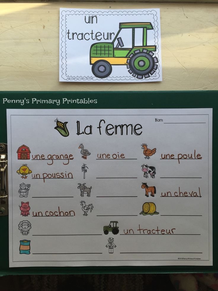 French Farm Write the Room! Perfect for any time of the year this set is filled with great French vocabulary activities including the write the room activity, word puzzles, colour by word pictures and more! Perfect for centres! Save money with the Write the Room bundle and get sets for the whole year and future sets for free! #farm #ferme #french #francais