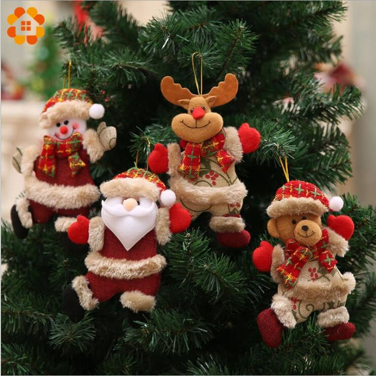 1PCS Merry Christmas Santa Claus Pendants Ornaments for Xmas Tree Door Home Decoration Christmas Party Decorations Kids Gifts #DIYChristmasGifts