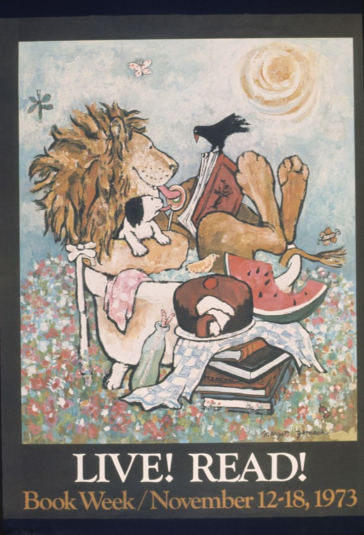 Official Children's Book Week poster, 1973, Margot Zemach (1931-1989)