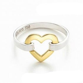 Tiffany & Co Colou Separatio Heart Ring Love two toned!