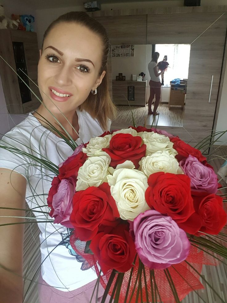 Surprise#from love#25 roses💋❤🌷⚘