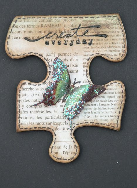 papercrafts    ~    Michelle's Scrap bits:  A Puzzling Situation!