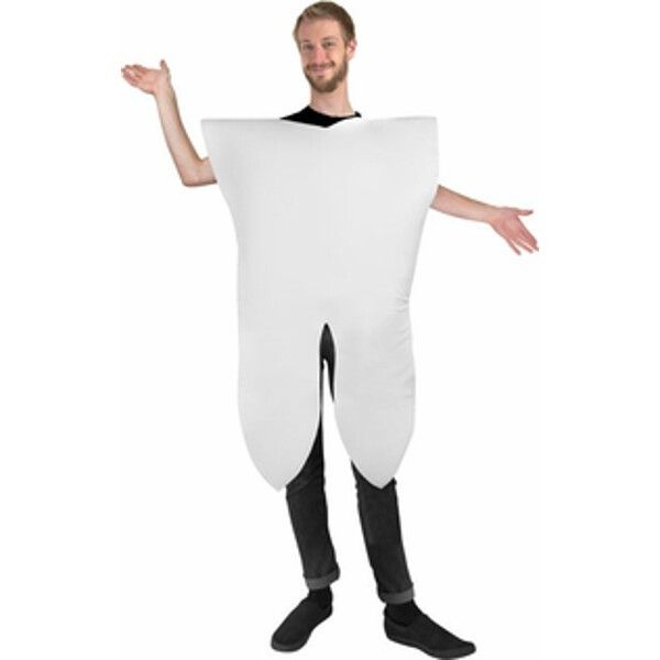 Are you looking for an original costume idea for this Halloween? Our adult tooth costume is funny, unique, and sure to get a laugh at this year's costume party. - Tooth body piece - Pants, shoes are n