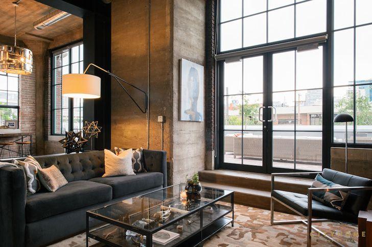 Промышленный Лофт с огромной террасой в Солт-Лейк-Сити | Пуфик - блог о дизайне интерьера