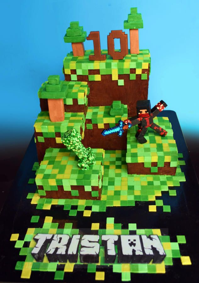 Minecraft Images For Cake : Minecraft Cake Party Ideas Pinterest