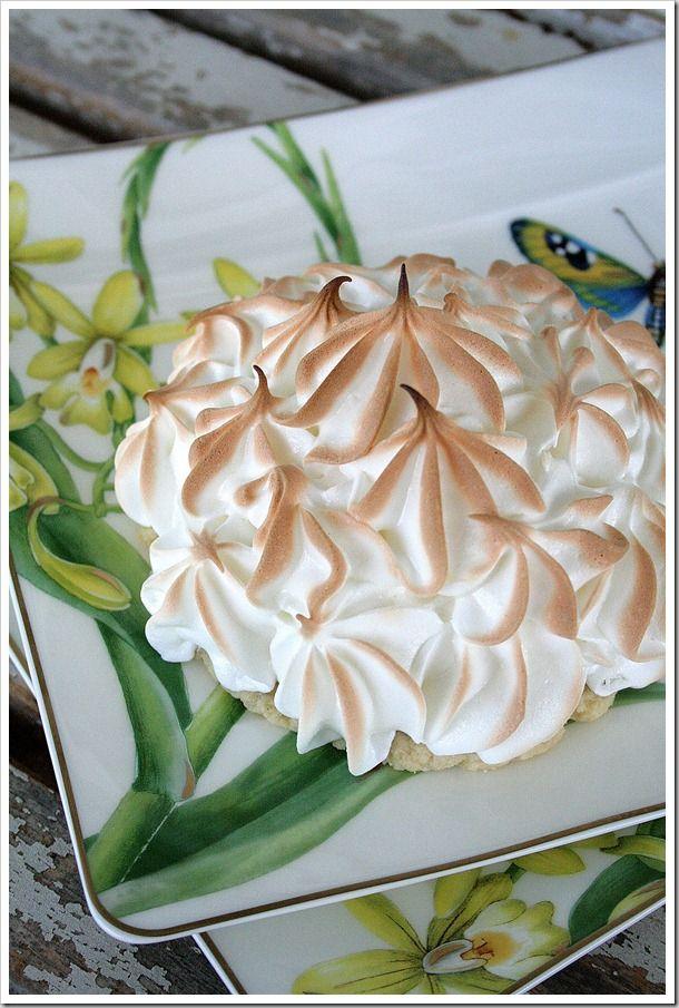 Lemon Meringue Tarts with Lavender Cardamom Crust