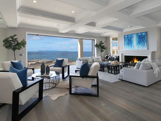 White Cape Cod Beach House Living Room