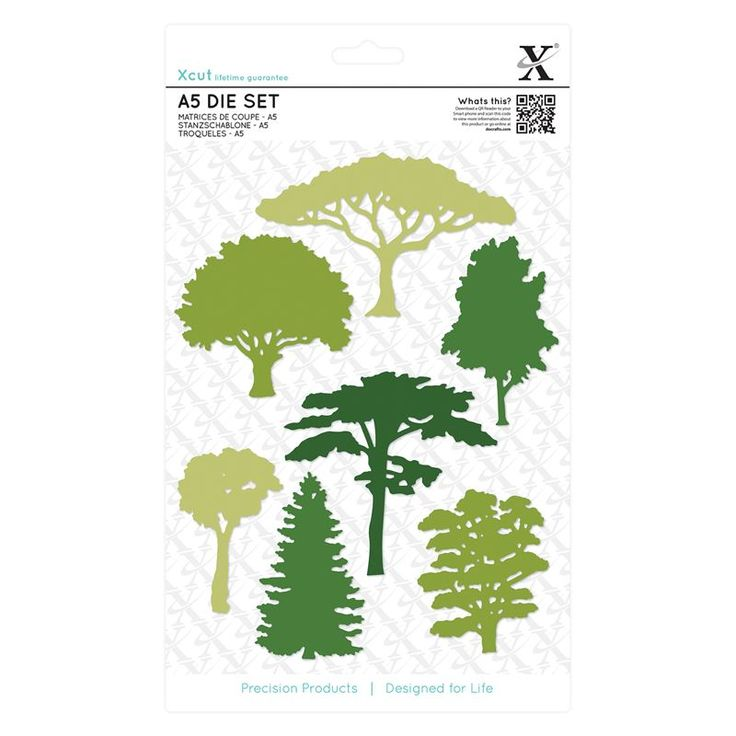 A5 Die Set (7pcs) - Woodland Trees | docrafts.com