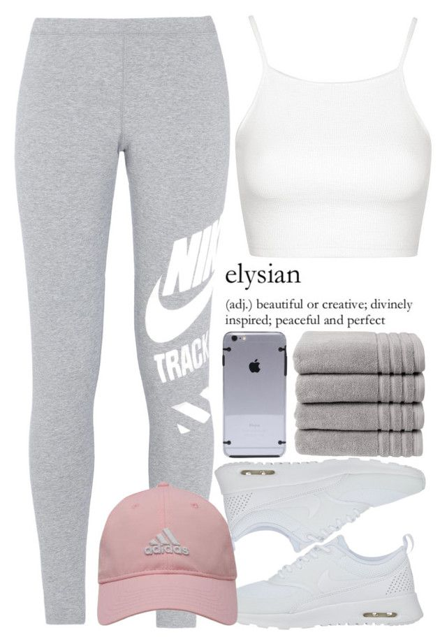 """June 13th, 2016 (training)"" by inesdinis6 ❤ liked on Polyvore featuring Topshop, NIKE, adidas Golf and Christy"