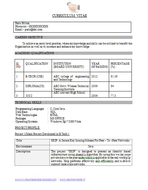 25  best ideas about resume format for freshers on