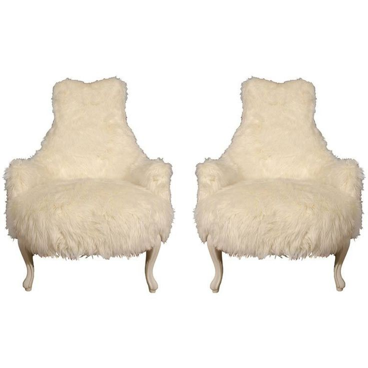 Pair Of Flokati Side Chairs. This May Be Purchased On Ecofirstart.com