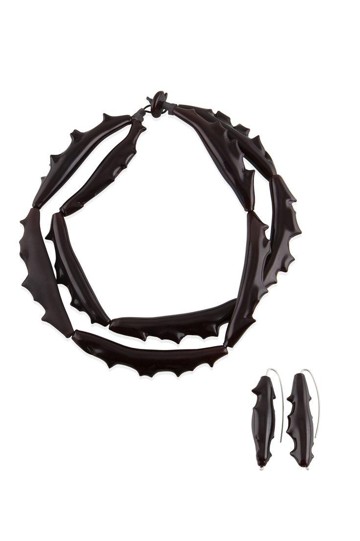 PARURE-SET Necklace+Earrings Non c'è rosa di Studiozerovetro su Etsy